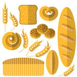 Set of Bakery Products Stock Images