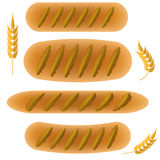 Set of Bakery Products Royalty Free Stock Photo