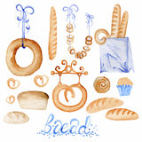 Set of bakery products Royalty Free Stock Photography