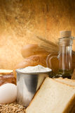 Set of bakery products on table Stock Image