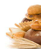Set of bakery products on white Stock Image