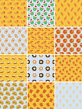 Set of bakery seamless patterns Stock Photos