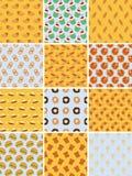 Set of bakery seamless patterns. Twelve simple bakery seamless patterns Stock Photos
