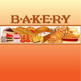 Of a set of baking bread for bakery Royalty Free Stock Images