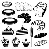 Set of baking and bread. vector illustration