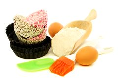 Set for baking cakes. Royalty Free Stock Photos