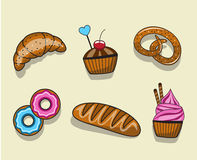 Set baking royalty free illustration