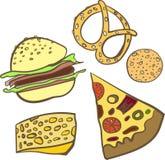 Set baking fastfood  illustration Stock Photography