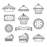Set of baking icons Royalty Free Stock Photography