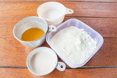 Set of baking ingredients Stock Photography