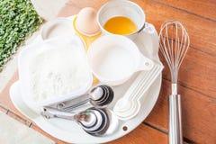 Set of baking ingredients Royalty Free Stock Images