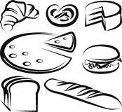 Set of baking items. Illustration with a set of baking items royalty free illustration
