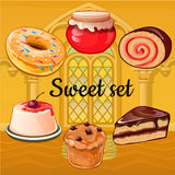 Set of baking and pastry Stock Image