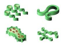 Set bakterie i wirusowe isometric ikony Obrazy Royalty Free