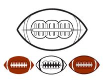 Set of ball american football oval iconon white, stock vector il. Lustration, eps 10 Royalty Free Stock Photography