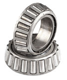Set of ball bearings isolated Stock Photography