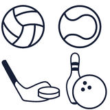 Set ball icons. Stock Photo