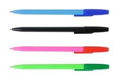 Set of ball pens Royalty Free Stock Photo