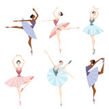 Set of ballet dancers. Set of vector illustrations of ballet dancers Stock Photography