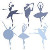 Set of ballet dancers. Set of vector illustrations of ballet dancers Stock Images