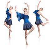 Set of ballet dancers Stock Photos