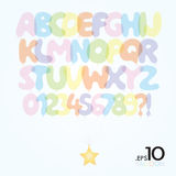 Set of Ballon Vector Alphabet and Numbers Royalty Free Stock Images