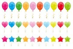 Set Ballone lizenzfreie abbildung