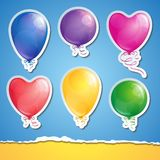 Set of balloons Royalty Free Stock Images
