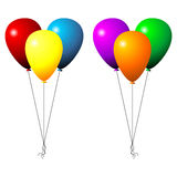 Set of balloons. Two sets of party balloons isolated over white background stock illustration
