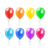 Set of balloons with bow Stock Photography
