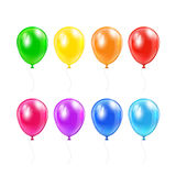 Set of balloons Stock Photos