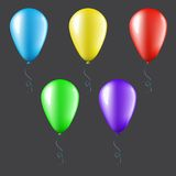 Set of balloons isolated Stock Photo