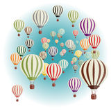 Set of balloons. Vector illustration of a set of balloons Royalty Free Stock Photography