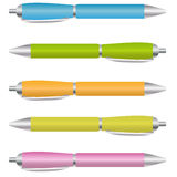 Set of Ballpoint Pens Stock Images