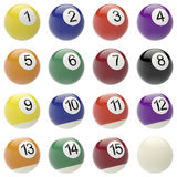 Set of balls for billiards. Stock Images