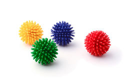 Set of balls for cats royalty free stock photography