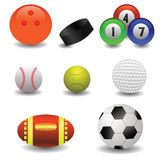 Set of balls Stock Photography