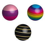 Set of balls in 3D Royalty Free Stock Photos