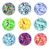 Of a set of balls of different colors for a disco  Royalty Free Stock Photo
