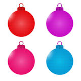 A set of balls with faces. Christmas decorations. Symbols of the New Year. illustration Royalty Free Stock Image
