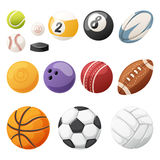 Set of balls isolated vector. Stock Photos