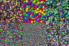 Set of balls seamless generated texture Stock Photography