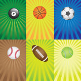 Set of balls for sport games. Royalty Free Stock Image