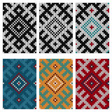 Set of Baltic knitting seamless patterns Royalty Free Stock Photos