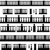 Set of balustrade elements Royalty Free Stock Photo