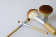 A set of bamboo brushes for applying makeup Royalty Free Stock Photography