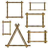 Set of bamboo frame Stock Photography