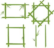 Set of bamboo frames Royalty Free Stock Photography