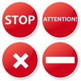 Set ban icons Stock Image