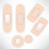 Set of bandages. Set of several bandages of different sizes Stock Photos